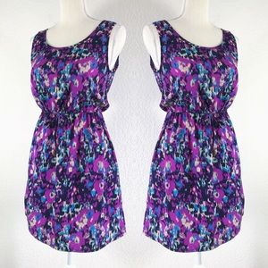 INDULGE ABSTRACT PRINT TANK TOP MINI DRESS MEDIUM